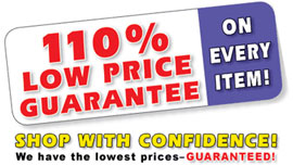 110% Low Price Guarantee on every item!